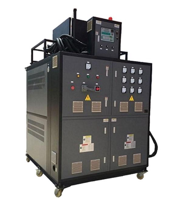 电加热温控系统主要应用于: 1、食品及化学工业:聚合、缩合、蒸馏、熔融、脱水、强制保温等温控。 2、油脂工业:脂肪酸蒸馏、油脂分解、浓缩、酯化、真空臭等反应釜控温、反应釜加热等温控。 3、合成纤维工业:聚合、熔融、纺丝、延伸、干燥等温控。 4、纺织印染工作:热定型辊筒加热、烘房加热、热容染色等温控; 5、塑料及橡胶工业:热压、压延、挤压、硫化成型等温控。 6、造纸工业:干燥、波纹纸加工等。 7、木材工业:多合板、纤维板加压成型、层压板加热、热压板加热、油压机 控温、木材干燥等温控。 8、建材工业:石膏板烘