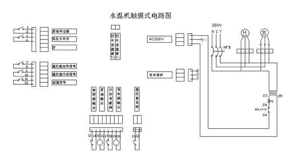 模温机由电路控制、管路系统组成。电路图也就是控制系统的详细说明,管路图则是模温机循环原理的解释。模温机电路和原理图是怎样的呢?来看看欧能机械的分享,有需要模温机电路原理图的赶紧收藏哦! 模温机电路图由PC控制板、温控表、空气开关、接触器、过载保护、相序保护器等一系列电器组成,这些电器元件相互配合形成模温机的控制系统。水式模温机电路图如下:  模温机的管路图由加热器、循环泵、压力控制器、温度监测、液位监测系统、阀门等组成,加热器提供热能,循环泵提供动力。模温机的管路系统和电路控制系统互锁控制,保障模温机的安