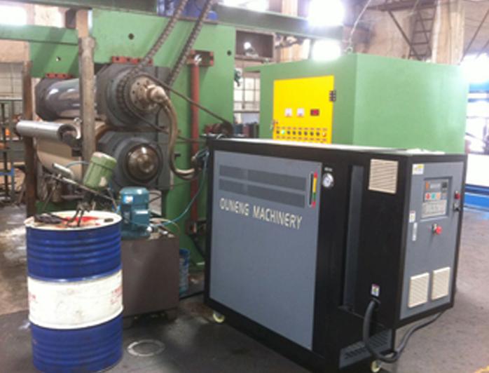 轧光机加热模温机——应用案例