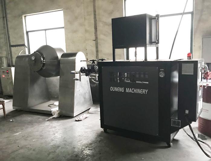 回转真空干燥机加热油温机——应用案例